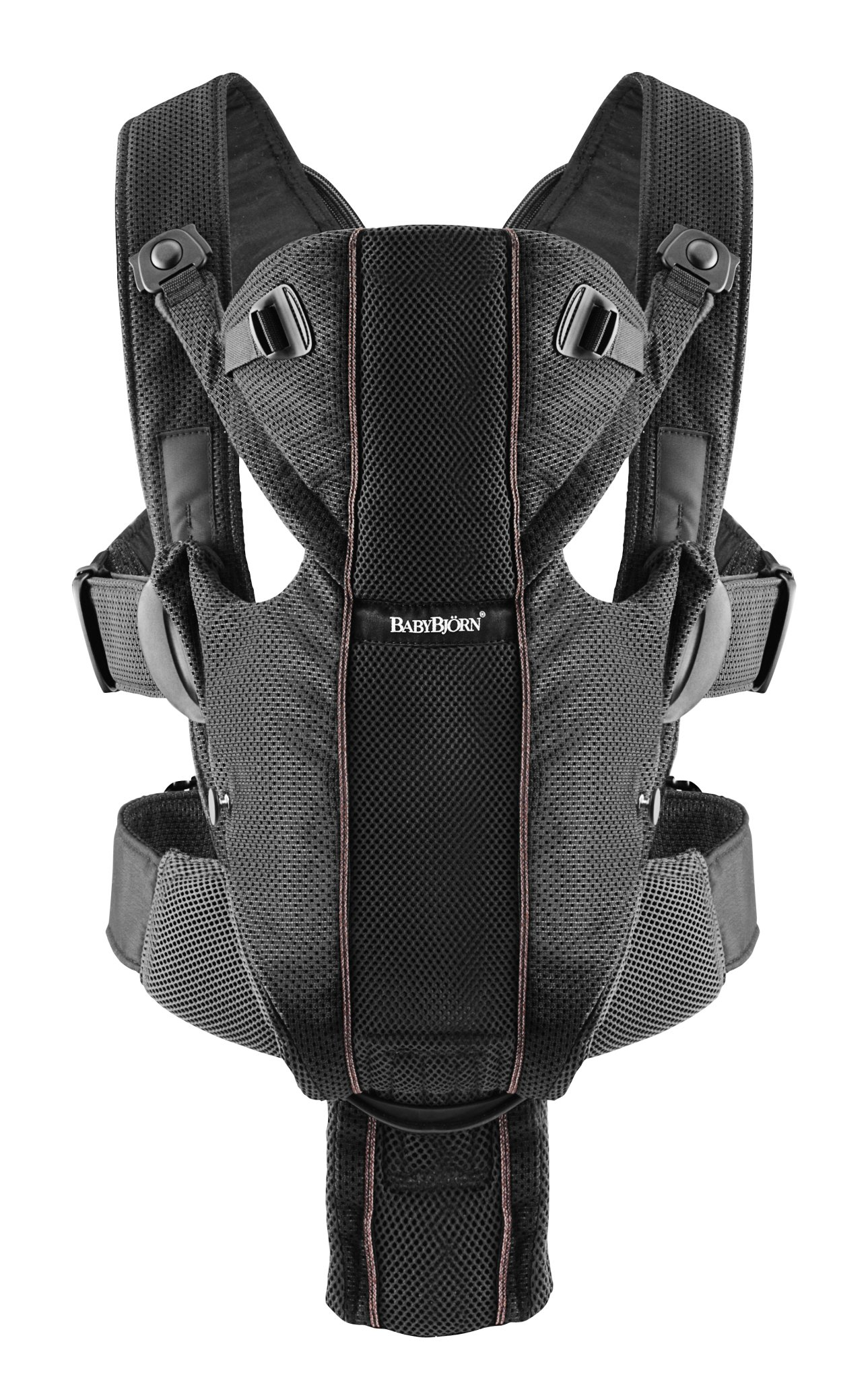 BABYBJORN Baby Carrier Miracle, Black, Mesh
