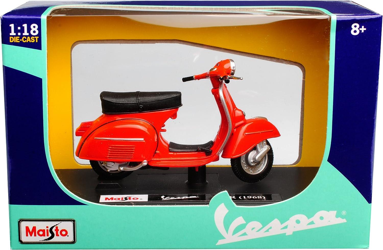 alles-meine.de GmbH Vespa 125 GTR Rosso 1968 con attacco 1//18 Maisto Modell Motorrad