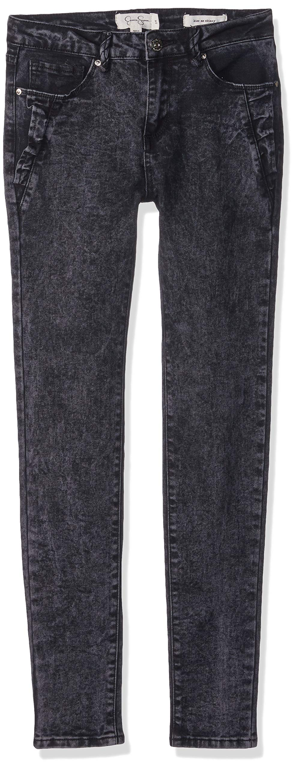 Jessica Simpson Big Girls' Black Wash Skinny Jean, Washed Black Wash, 14