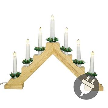 Fesselnd Nipach GmbH Schwibbogen Lichterbogen 7 LED Lichter Weihnachtsbeleuchtung  Deko Warmweiß