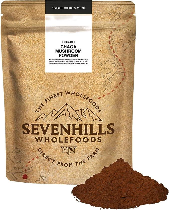 Sevenhills Wholefoods Champiñones Orgánicos Chaga en Polvo 250g
