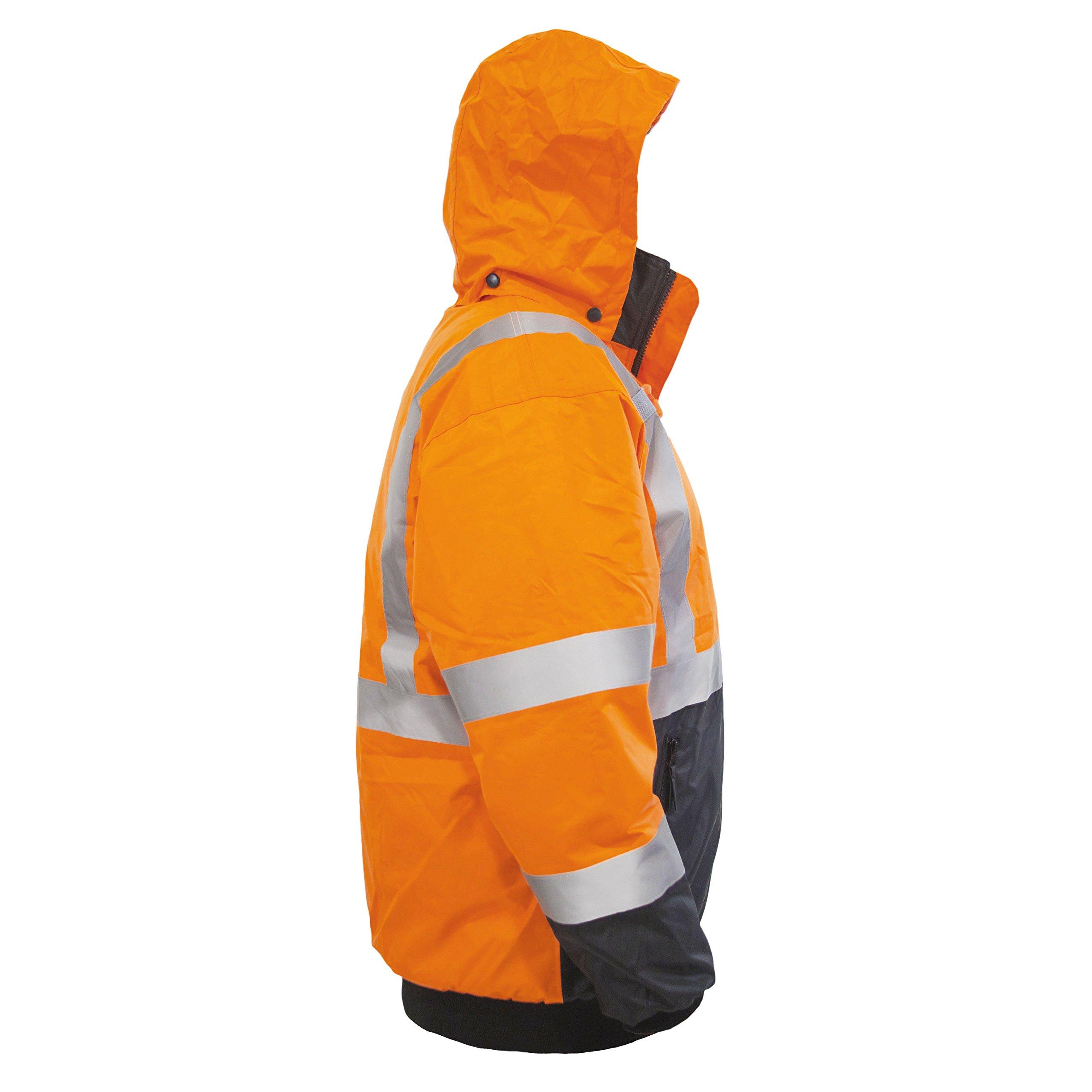 JORESTECH High Visibility Waterproof Bomber Jacket (3X-Large, Orange) by JORESTECH  (Image #4)