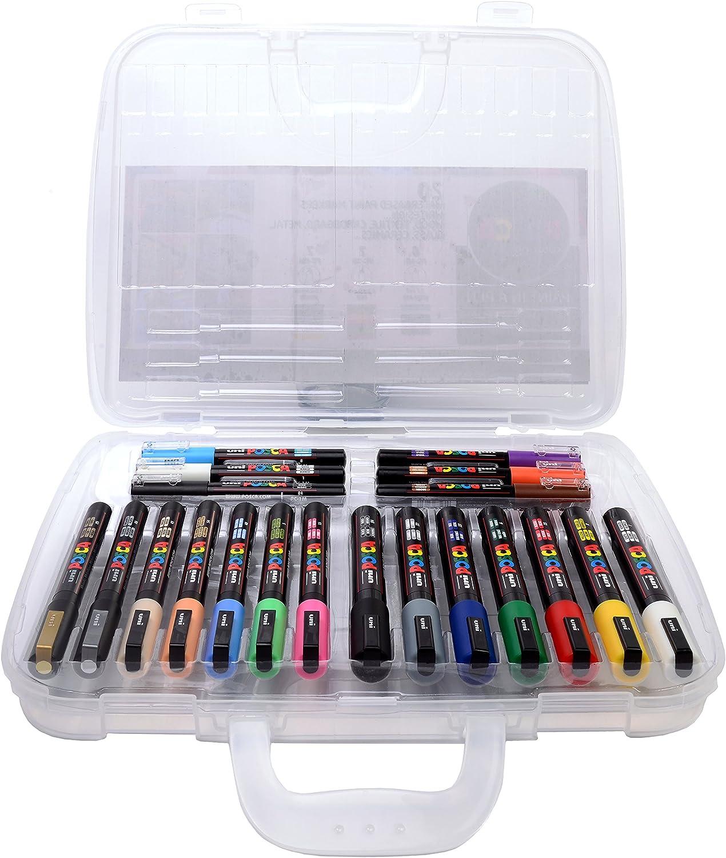 Marcador Posca 153544861 con varios puntas/colores (Pack de 20): Amazon.es: Oficina y papelería