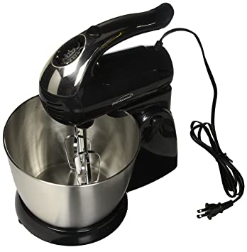 Brentwood Appliances SM-1153 5-Speed Stand Mixer with Stainless Steel Bowl, 12.00In. X 8.40In. X...