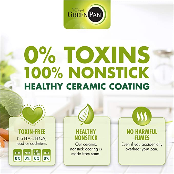 GreenPan CC000014-001 Acero Inoxidable 100% Libre de toxinas ...