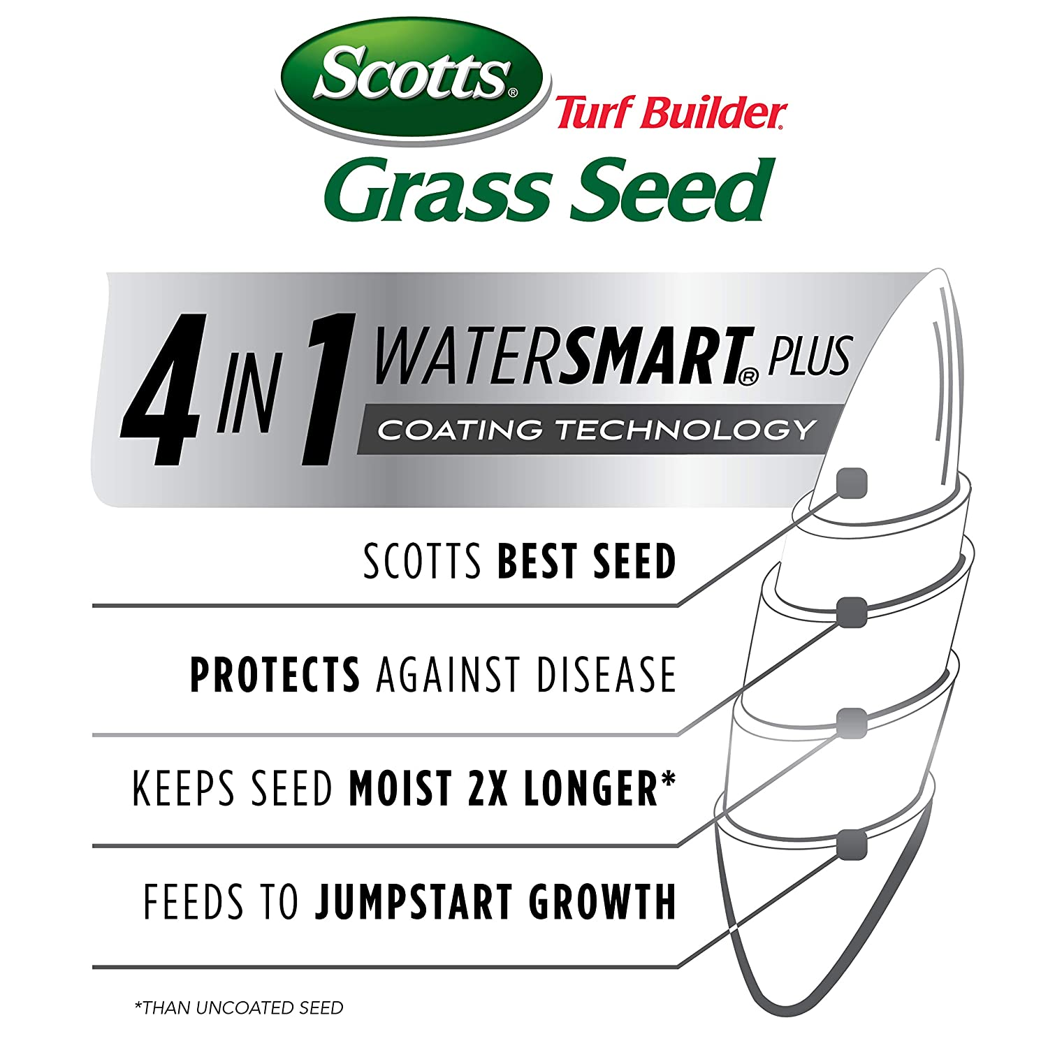 Grows Deep Roots For A Durable Scotts Turf Builder Grass Seed Tall Fescue Mix Livable Lawn Use to Seed New Lawn or Overseed Existing Lawn   Designed For Full Sun /& Shade 3 Lb 99.9/% Weed Free High Drought Resistance