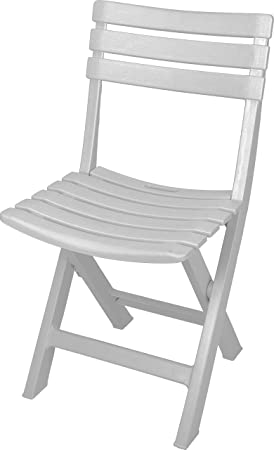 Skalar Silla Plegable de Resina, Blanco, 43x9x90 cm