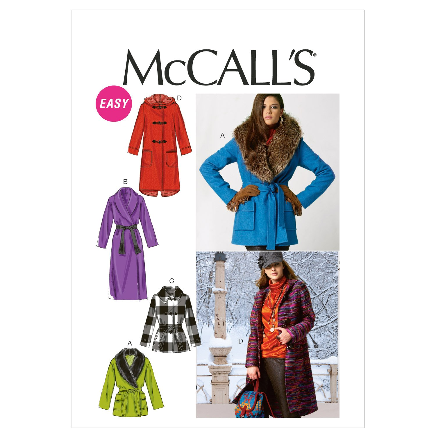Amazon.com: McCall Patterns M6657 Misses\' Unlined and Lined Jackets ...