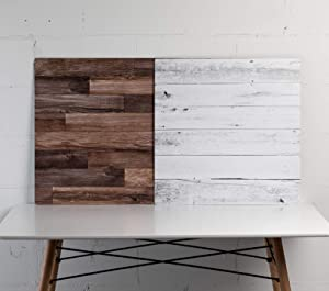"""Duo Board - 24""""X24"""" Double Sided Backdrop Board Surface Food & Product Photography - Legs Included (Whitewash/Hickory Planks) Made in USA"""