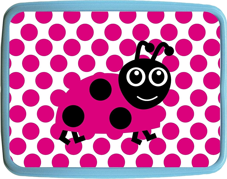 Ladybug Blue Girls//Boys Preschool Toddler Backpack /& Lunch Box Set