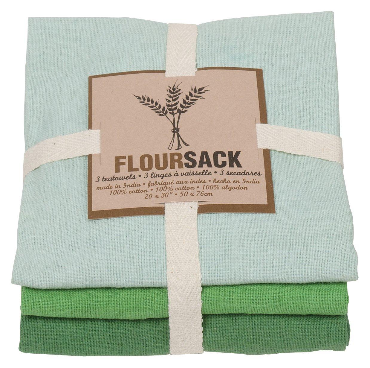 Amazon.com: Now Designs Printed Floursack Kitchen Towels, Set of ...