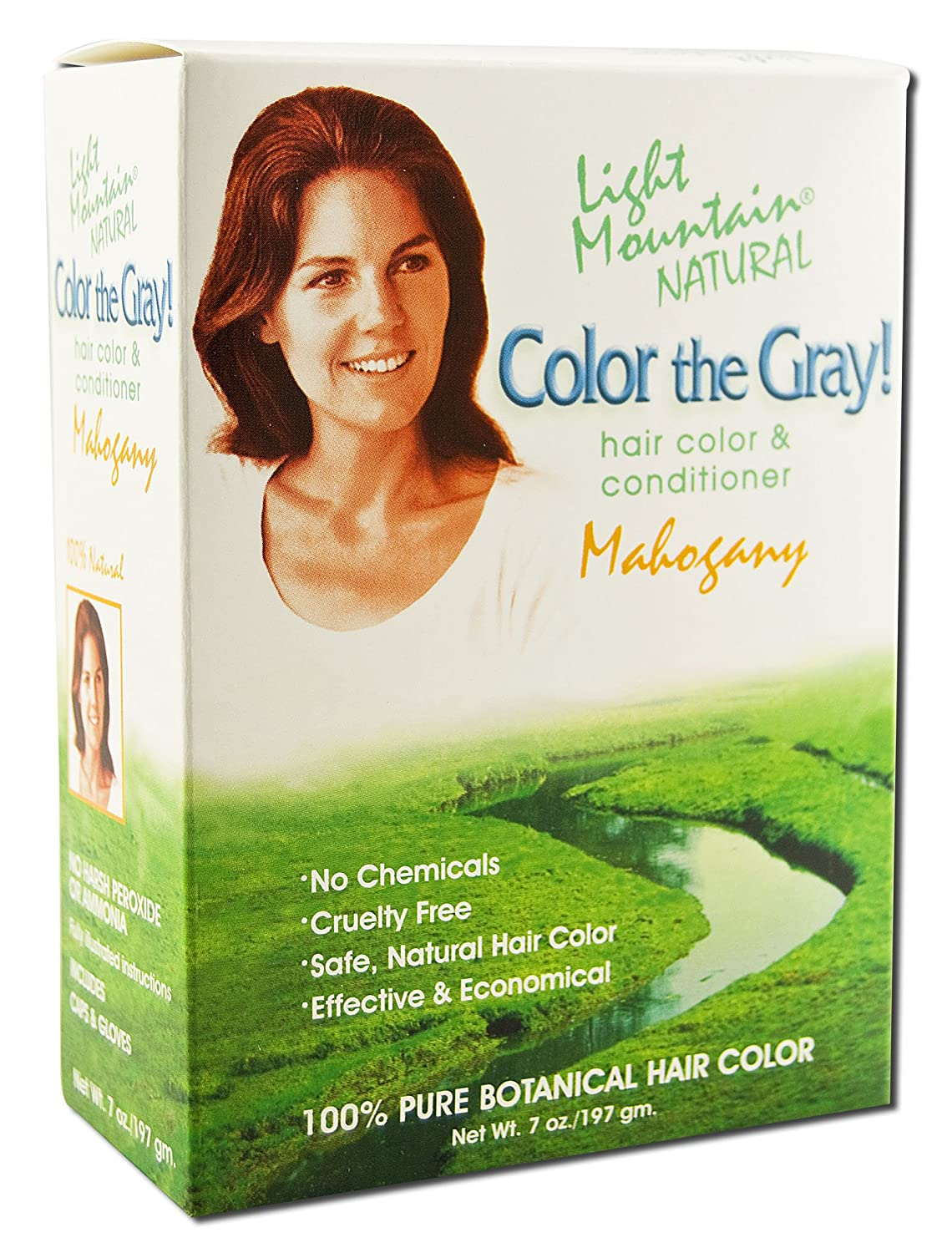 Color The Gray Mahogany by Light Mountain - 7 oz UNFI - Select Nutrition 87320