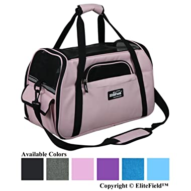 EliteField Soft Sided Pet Carrier (3 Year Warranty, Airline Approved), Multiple Sizes and Colors Available