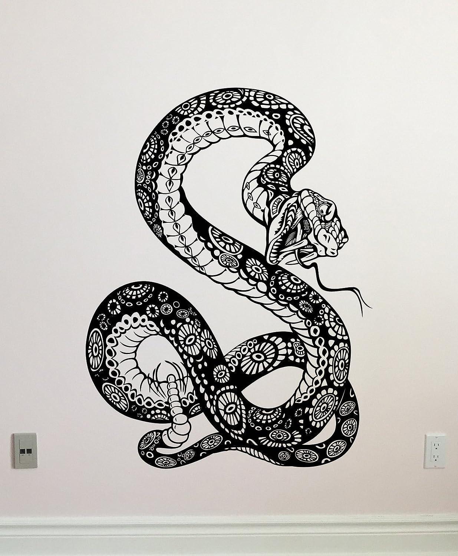 Amazon com snake wall decal anaconda vinyl sticker animals wall art design teen room zoo wall decor kids room housewares bedroom decor removable wall mural