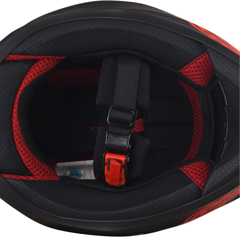 MX Helm Mit Sonnenblende Enduro-Helm Quad-Helm S 55-56cm Broken Head Made2Rebel Cross-Helm Rot Mit Visier