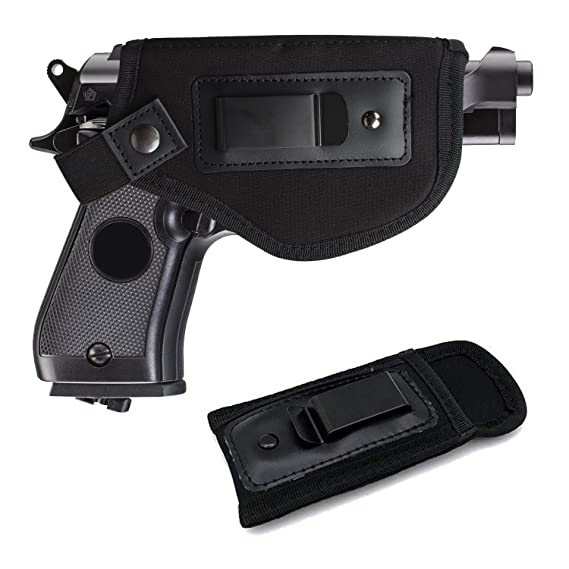 Universal IWB Holster For Concealed Carry | Inside The Waistband Holster |  BONUS Mag Holster | Magazine Holster | Fits all firearms S&W M&P Shield