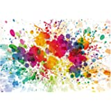 Fun Express - Paint Splattered Backdrop Banner for Art Party