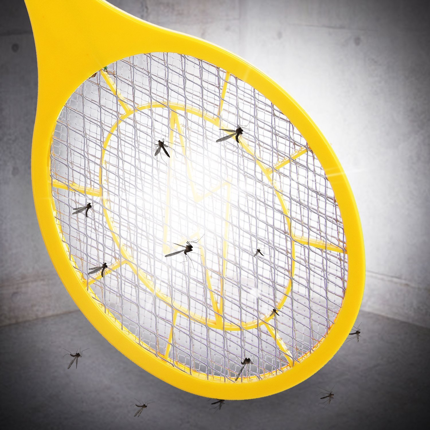 Bug zapper- Electric Fly Swatter ,handheld Insect Fly Killer, Mosquito Zapper against Flies,Bugs,Bees and Other Pest,Unique 3-Layer Safety Mesh Safe to Touch for Indoor and Outdoor Pest Control by Henscoqi (Image #5)