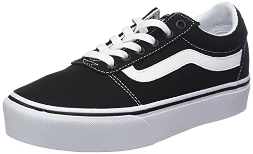 Vans Women s Ward Platform Canvas Low-Top Sneakers  Amazon.co.uk ... daa86a54f82e