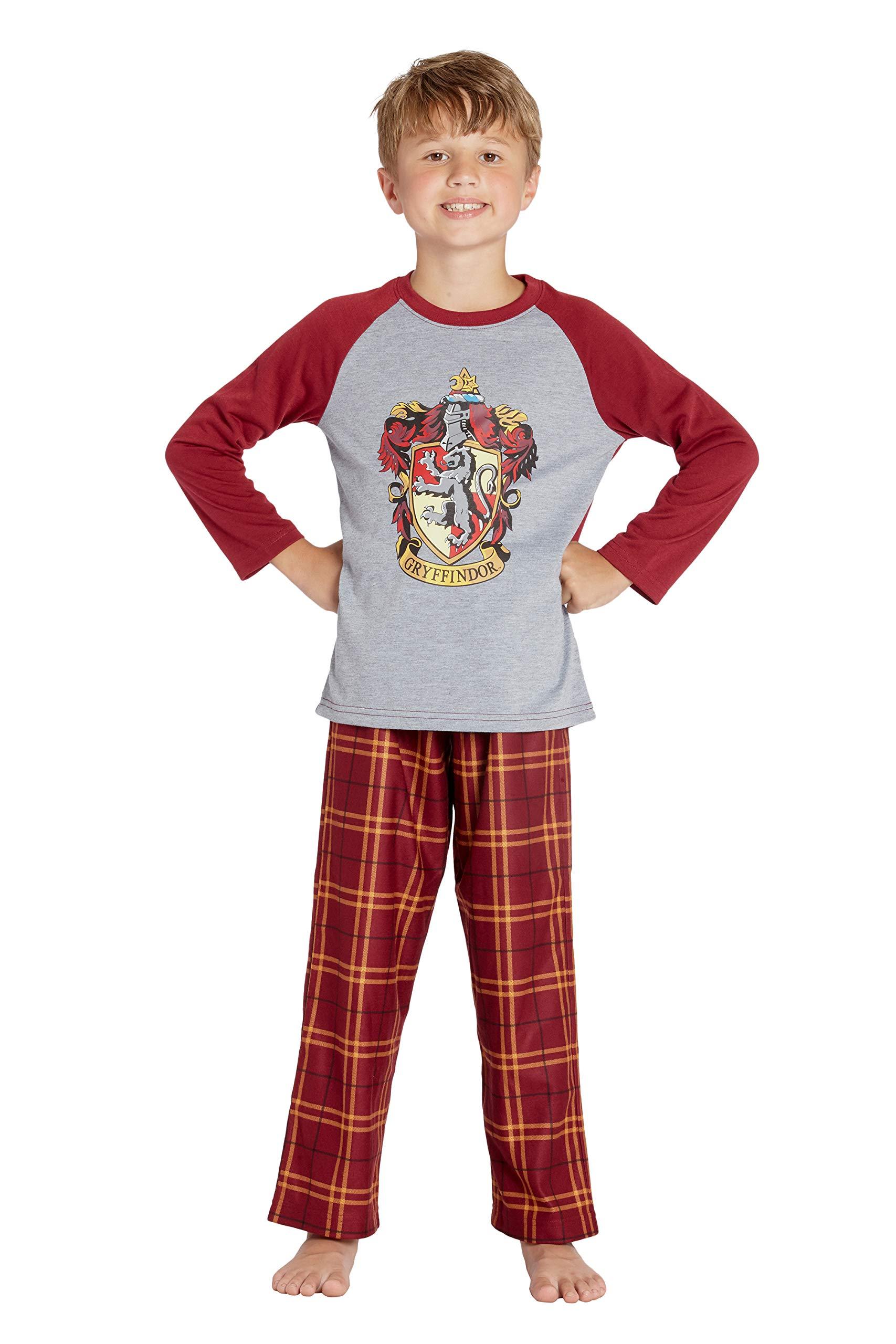 Harry Potter Boys/' Raglan Shirt And Plaid Pajama Pants Set All 4 Houses
