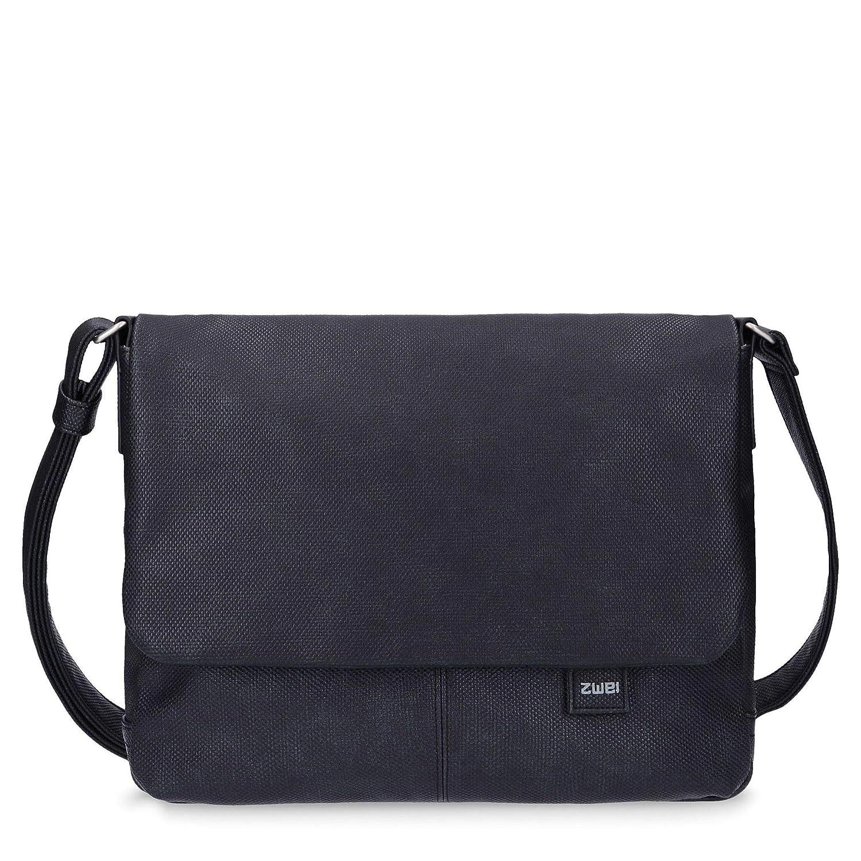 två Mademoiselle MT13 Messenger Bag 33 cm, - Canvas-grafit - 26cm Canvas-grå