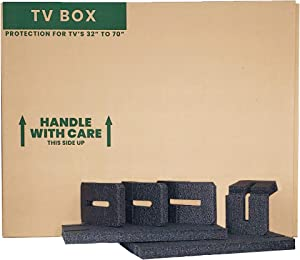 "TV Moving Box with Foam – Fits 32""-70"" Flat Screen TV"