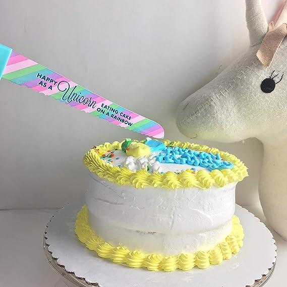 Birthday Cake Knife Unicorn Rainbow