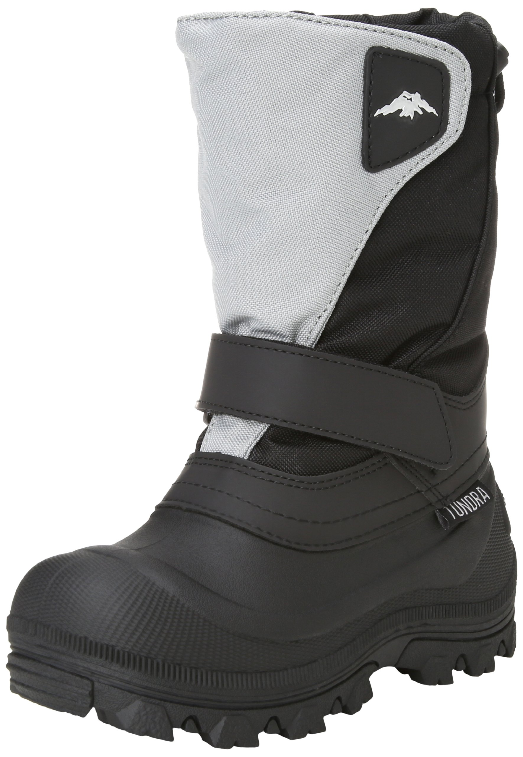 Tundra Quebec 2 Wide Boot (Toddler/Little Kid/Big Kid),Black/Grey,2 W US Little Kid