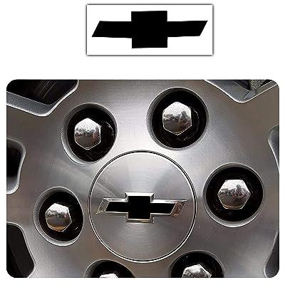 Bogar Tech Designs - Pre Cut Center Wheel Cap Vinyl Decal Sticker Compatible with Chevy Silverado 2020, Matte Black: Automotive