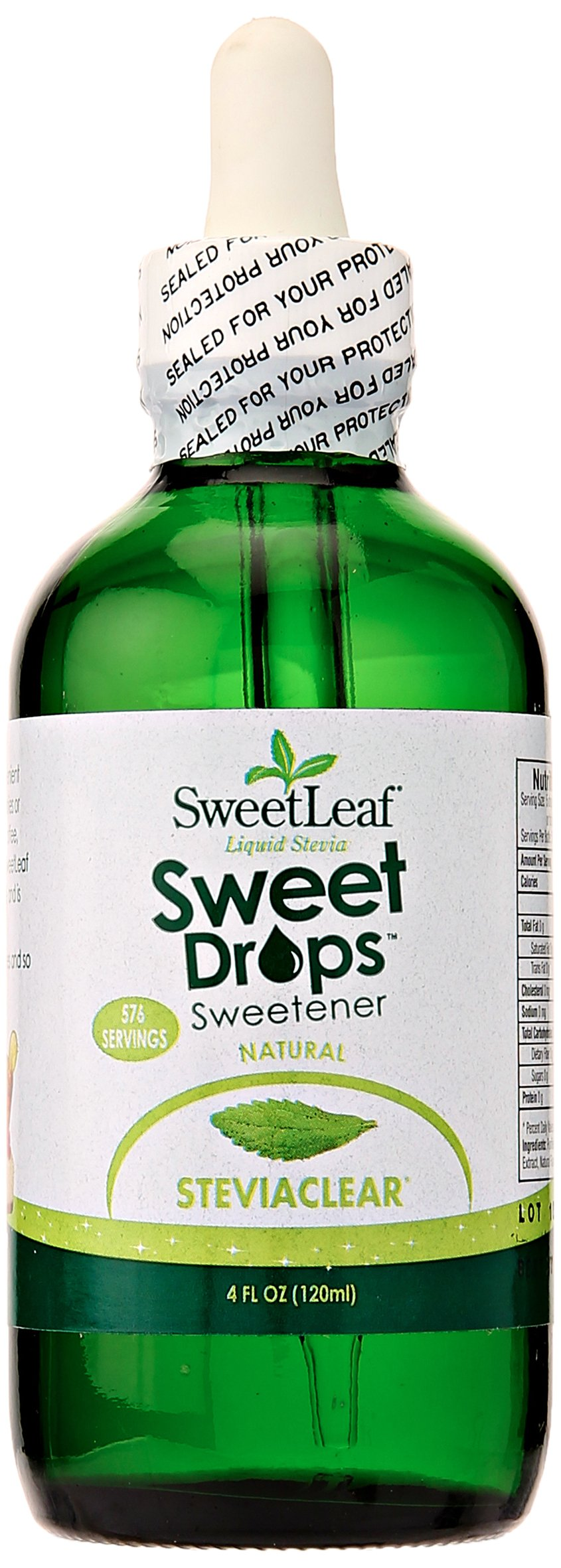 Sweet Drops Sweetleaf Liquid Stevia Sweetener, Steviaclear, 4 Oz by Sweet Drops