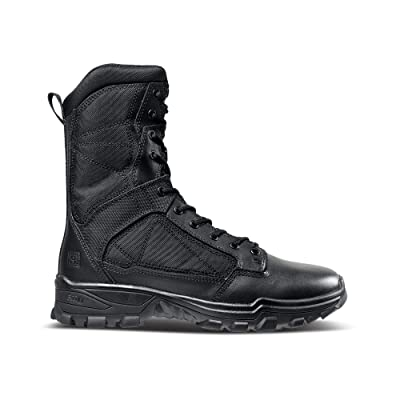 5.11 Tactical Men's Fast-Tac 8-Inch Leather Waterproof Combat Military Boots, Style 12387: Shoes