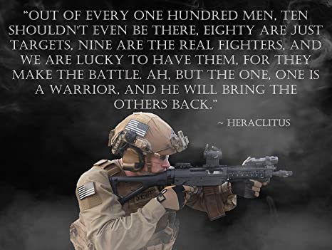 Image result for heraclitus quotes warrior