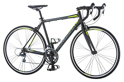 Schwinn Phocus 1600 Drop Bar Road Bicycle for Men, Featuring 56cm/Large Aluminum Step-Over Frame and Carbon Fiber Fork with Shimano 16-Speed Drivetrain and 700c Wheels, Black best racing bikes