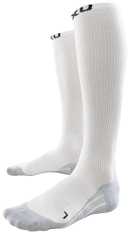 2XU Women's Race Compression Sock - White / Grey, Large [Sports] 【並行輸入品】 B00591OKCO