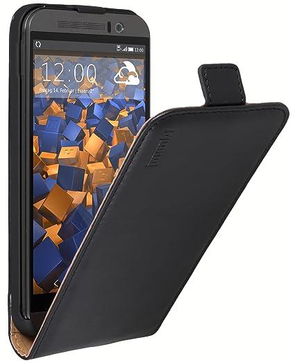 mumbi PREMIUM Leder Flip Case für HTC One (M9) Tasche