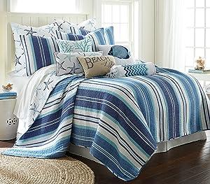 Levtex Camps Bay Full/Queen Quilt Set, Blue, Cotton