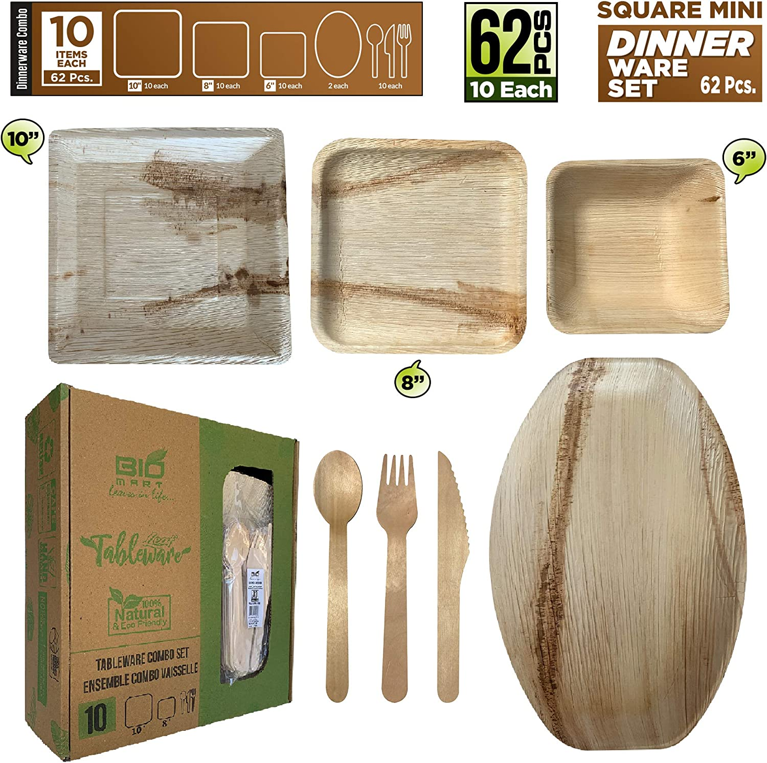 """BBQ Square Plates Theme Party Bowls and Serving Platter with with cutlery