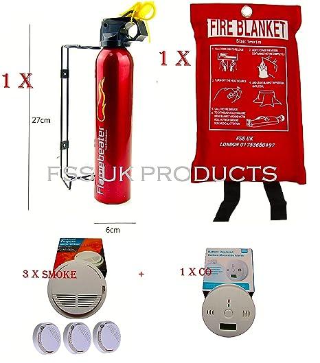 Cápsulas sunsprite extintor, manta, humo FIRE DETECTOR 3 + CO DETECTOR ...