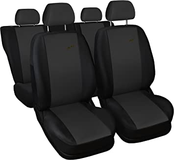 Front PAIR of Grey//Black LEATHER LOOK Car Seat Covers VAUXHALL COMBO