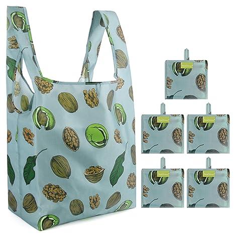 Amazon.com: Bolsas de compras reutilizables y plegables ...