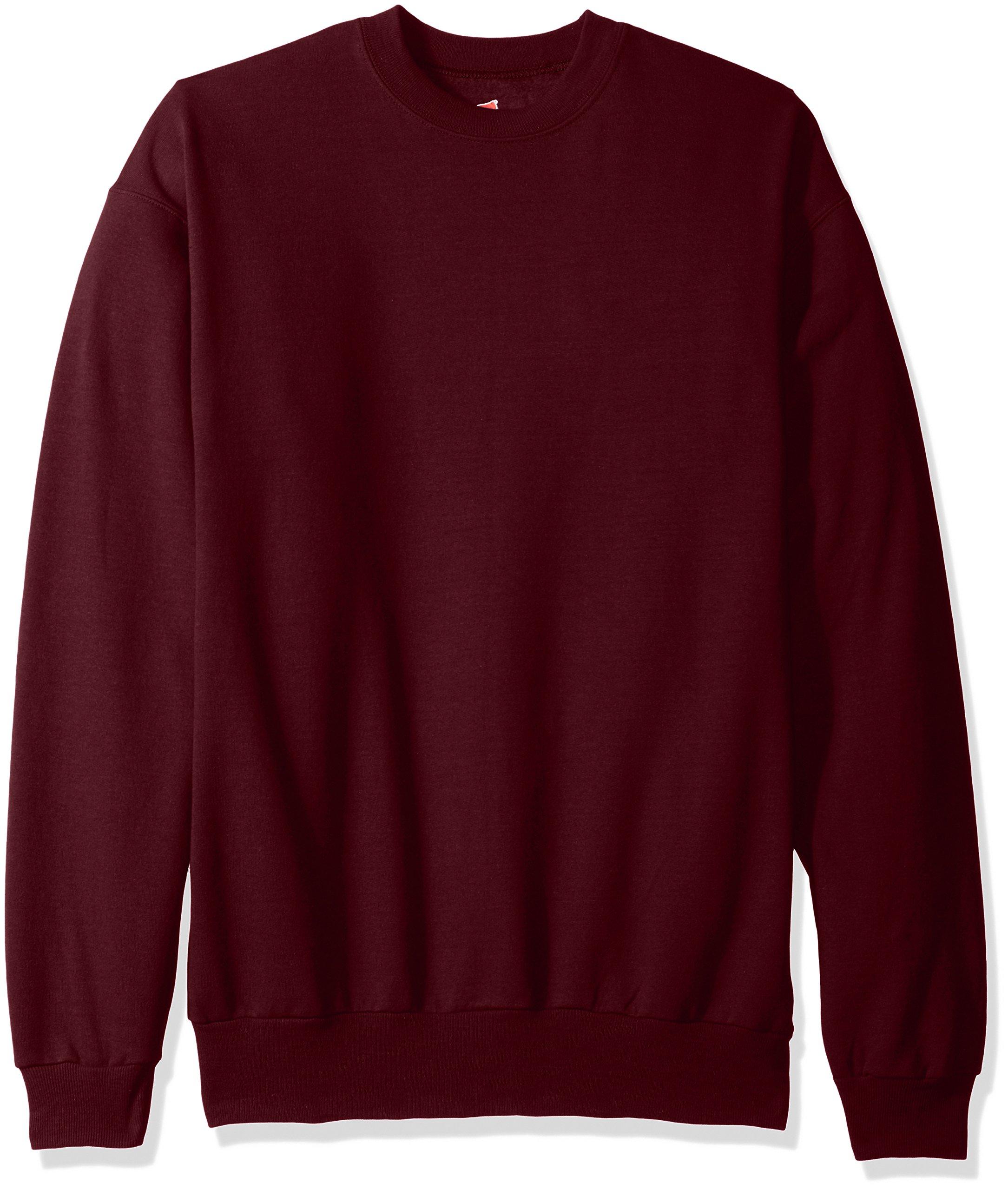 Hanes Men's EcoSmart Fleece Sweatshirt, Maroon, 2XL