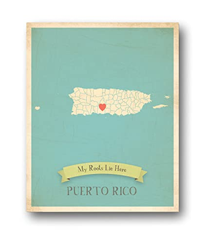 Wall Map, My Roots Puerto Rico Personalized Wall Map 11x14, Kidu0027s Puerto  Rico Map