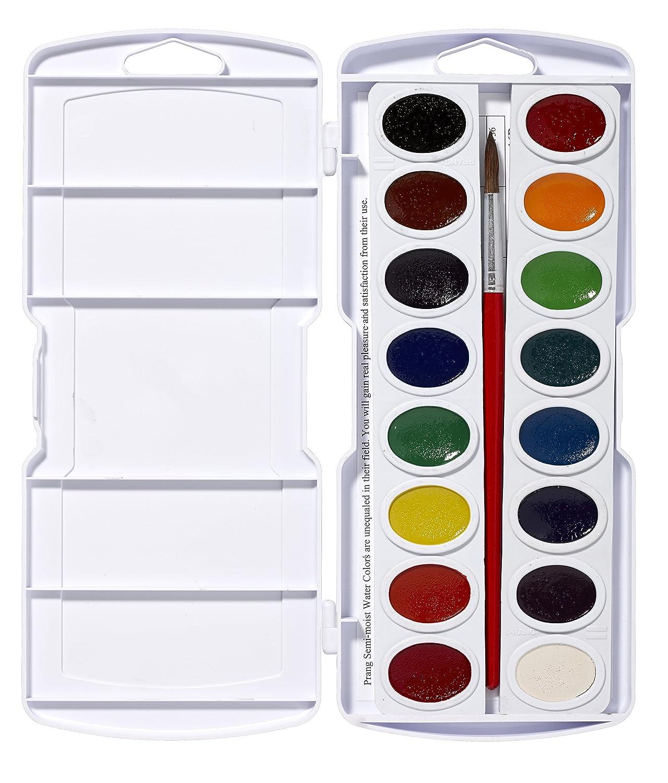 Prang Oval Pan Watercolor Set, 16 Classic Colors