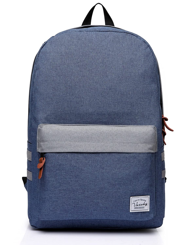 6f47e7bfcf82 Amazon.com | Vaschy Casual Classic Lightweight Daypack Teen School ...