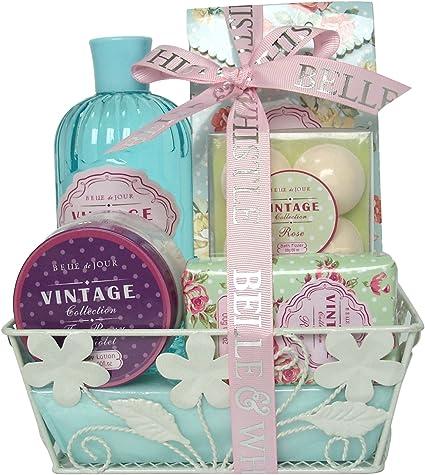 Gloss - caja de baño, caja de regalo para mujeres - Estuche de Baño Regalo - Vintage - Rosa: Amazon.es: Belleza