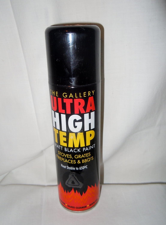 La galería estufa iluminación superbrillante de alta Temp mate pintura negra 450 ml: Amazon.es: Bricolaje y herramientas
