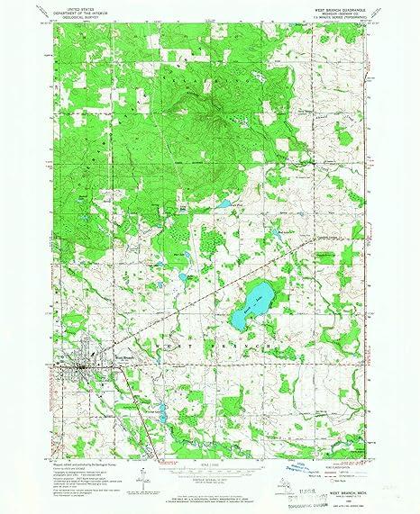Amazon Com Yellowmaps West Branch Mi Topo Map 1 24000
