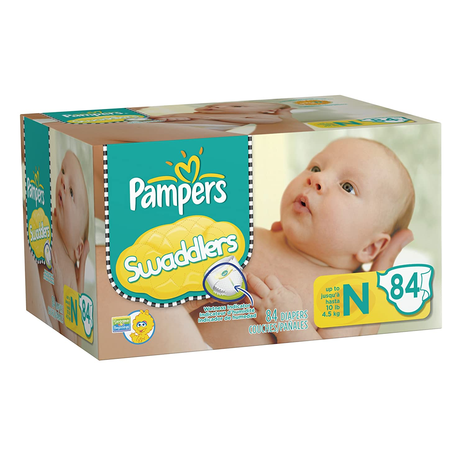 Amazon.com: Pampers Swaddlers Diapers Big Pack Size Newborn 84 ...