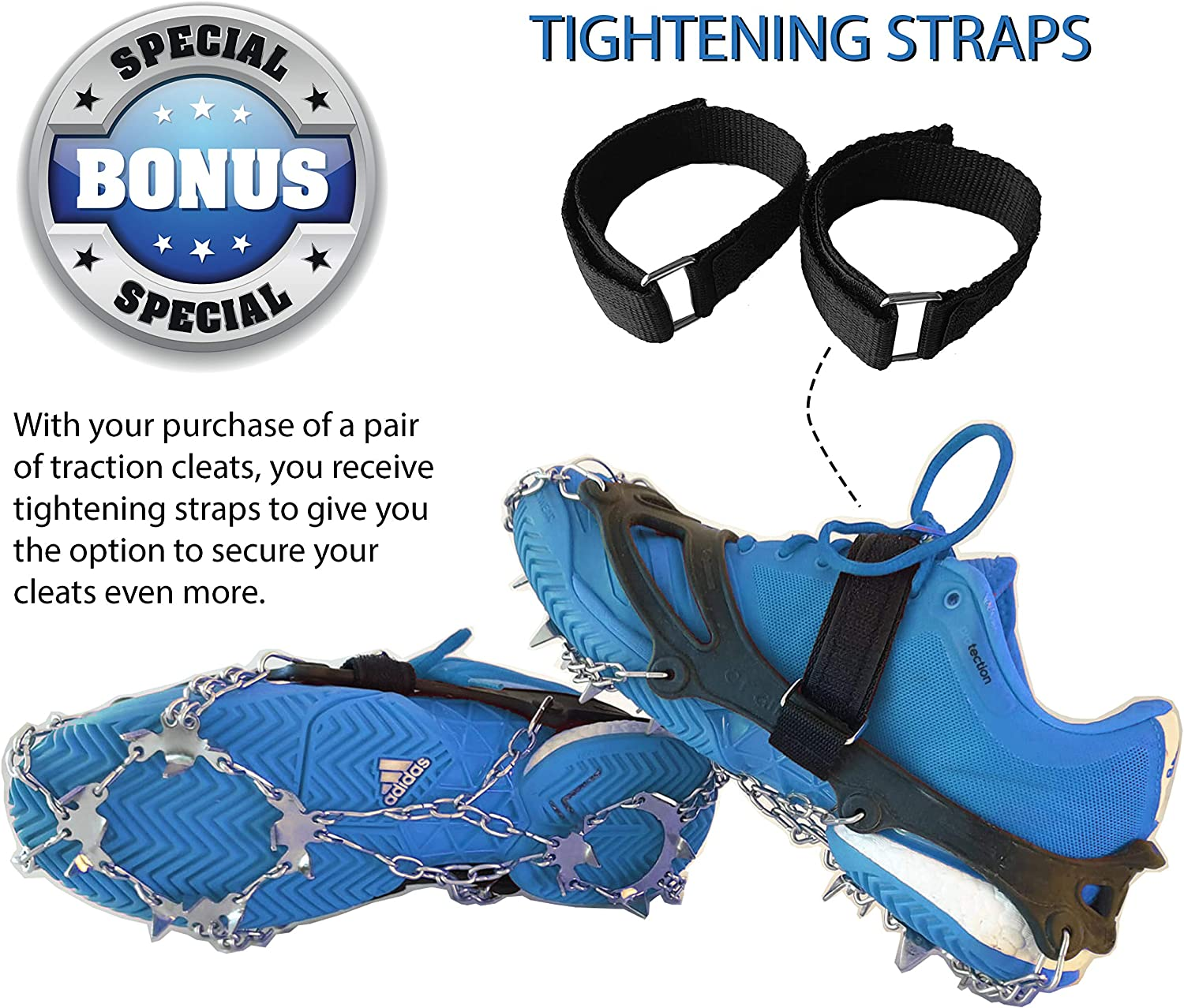 Limm Crampons Ice Traction Cleats Portable Microspikes and Ice Cleats for Shoes and Boots Shoe Grips on Bottom of Shoes Quickly /& Easily Over Footwear for Snow and Ice