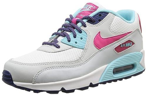 Nike Air MAX 90 Mesh (GS) - para Hombre, White/Vivid Pink-Copa-pr pltnm, Talla 38.5: Amazon.es: Zapatos y complementos